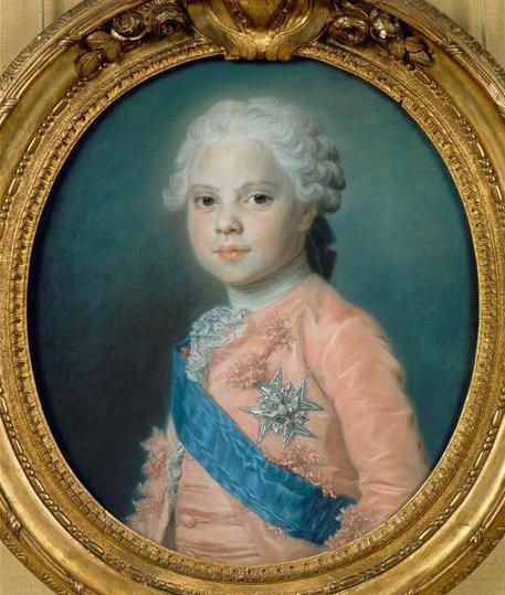 Portraits de famille de Louis XV sur une tabatière Quenti10