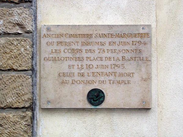 Madame de Tourzel, le corps et la sépulture de Louis XVII Rue_sa10