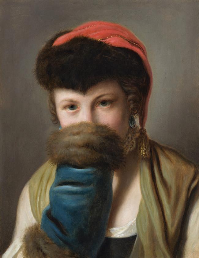 Galerie de portraits : Le manchon au XVIIIe siècle  Russia10