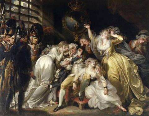 Les adieux de Louis XVI à sa famille, 20 janvier 1793
