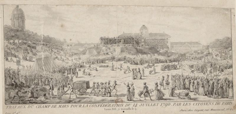 fédération - La Fête de la Fédération (14 juillet 1790)  Travau10