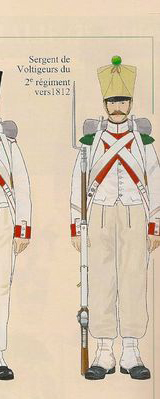 Royaume d'Italie Voltigeur du 2e Rgt Espagne 1812 MM transformation 54mm 000cd312