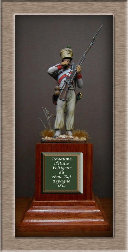 Royaume d'Italie Voltigeur du 2e Rgt Espagne 1812 MM transformation 54mm Dscn8625