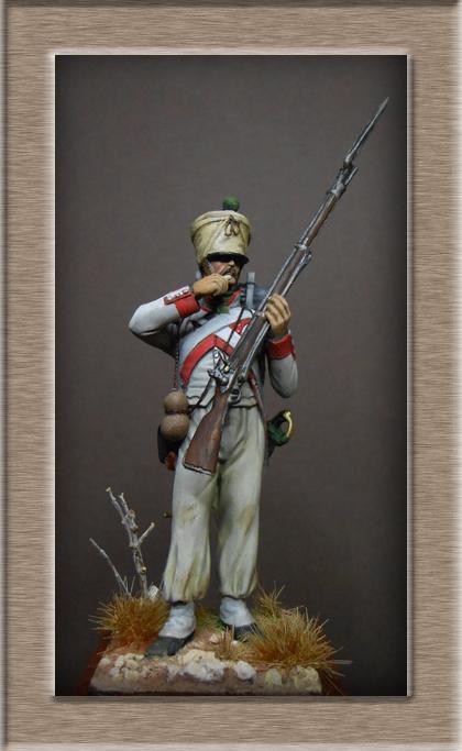 Royaume d'Italie Voltigeur du 2e Rgt Espagne 1812 MM transformation 54mm Dscn8719