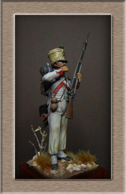 Royaume d'Italie Voltigeur du 2e Rgt Espagne 1812 MM transformation 54mm Dscn8720