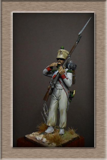 Royaume d'Italie Voltigeur du 2e Rgt Espagne 1812 MM transformation 54mm Dscn8721