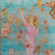 Peinture sur Soie  01101210