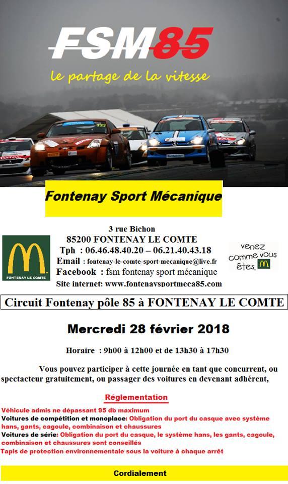 Sortie circuit 2018 Fontenay le Comte avec la FSM85 Fsm8510