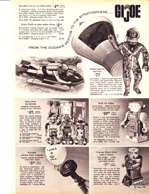 1960-70's catalog pages featuring Gijoe etc. 19682011