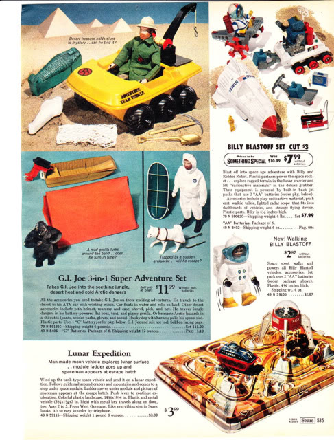 1960-70's catalog pages featuring Gijoe etc. 19702010