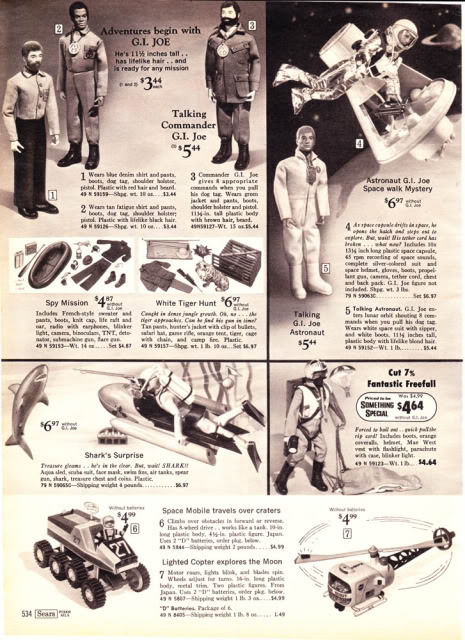 1960-70's catalog pages featuring Gijoe etc. 19702011