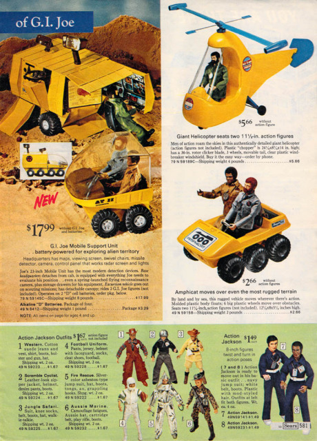 1960-70's catalog pages featuring Gijoe etc. 19722011