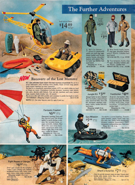 1960-70's catalog pages featuring Gijoe etc. 19722012