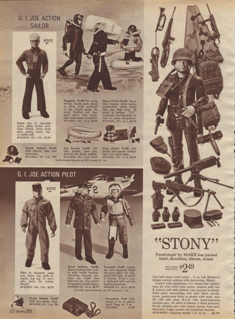 1960-70's catalog pages featuring Gijoe etc. Sears_14