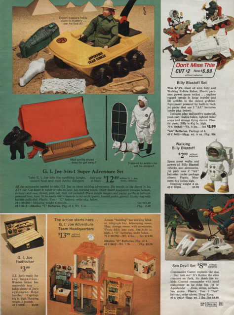 1960-70's catalog pages featuring Gijoe etc. Searsw13
