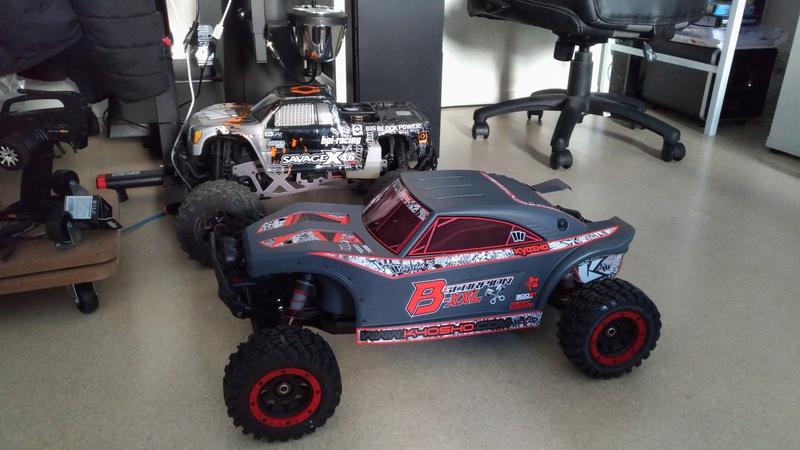 """Mon nouveau jouet """"Kyosho Scorpion B-XXL Nitro 1/7"""" F9563f10"""
