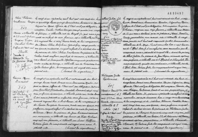 Généalogie de la famille Lestienne Acte_d14