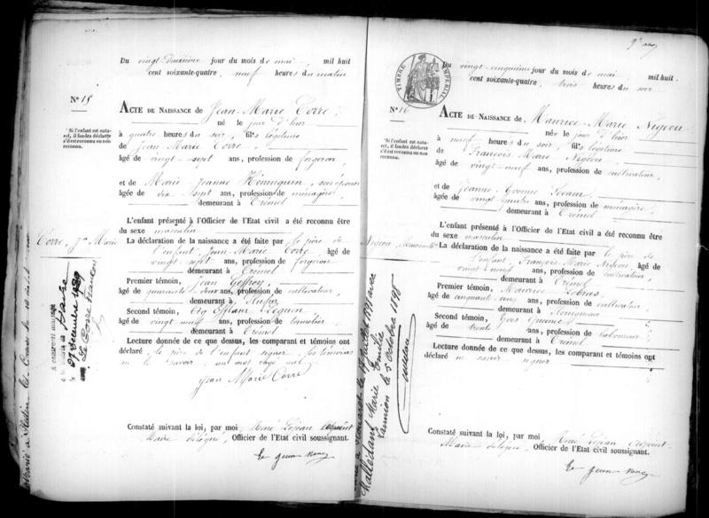 Jean-Marie CORRE....un peu d'histoire résumée Ad002211