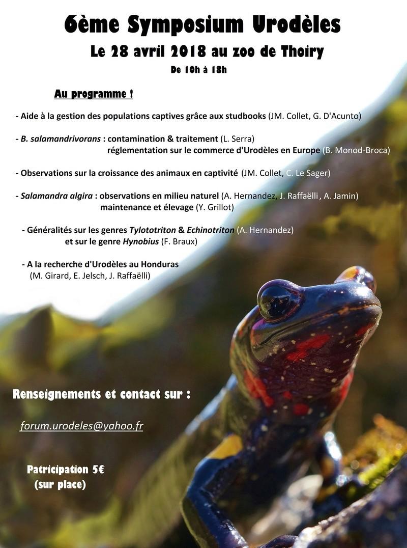 Symposium Urodèles 2018 Affich10