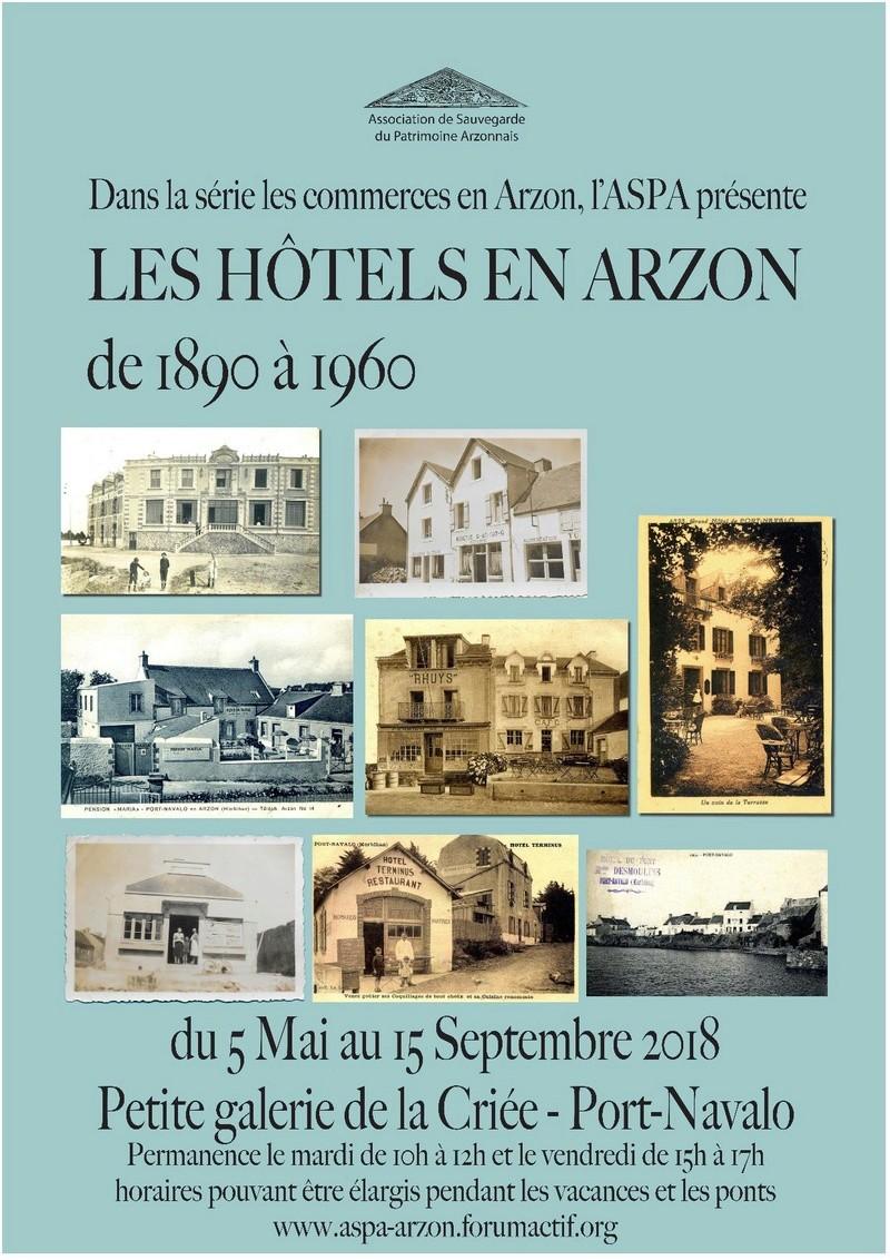 Exposition: LES HÔTELS EN ARZON de 1890 à 1960 à la galerie de la Criée de Port Navalo Affich10