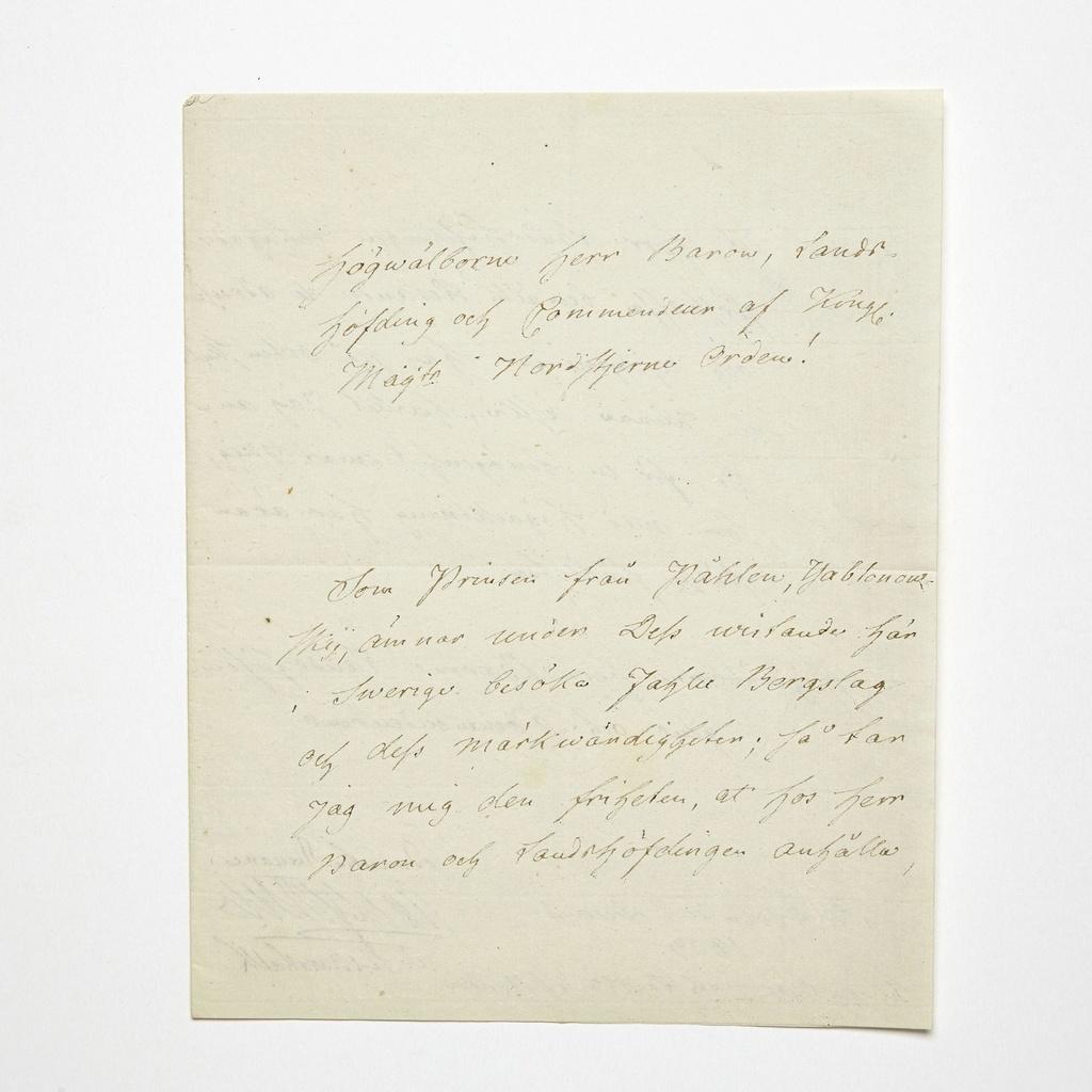 Ecrits du comte Hans Axel von Fersen Tylych20