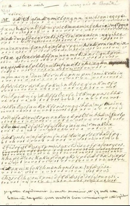 Voyage de Montmédy-Varennes, lettre inédite et chiffrée de Bouillé à Fersen Zzzzzz43