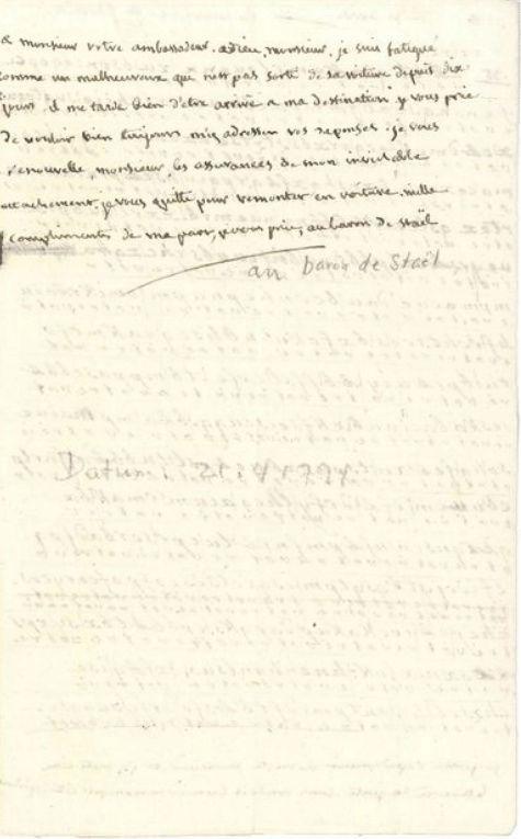 Voyage de Montmédy-Varennes, lettre inédite et chiffrée de Bouillé à Fersen Zzzzzz44