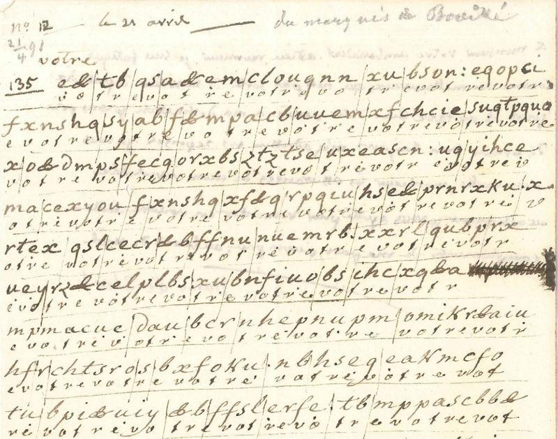 Voyage de Montmédy-Varennes, lettre inédite et chiffrée de Bouillé à Fersen Zzzzzz45