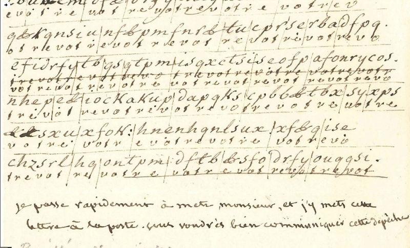 Voyage de Montmédy-Varennes, lettre inédite et chiffrée de Bouillé à Fersen Zzzzzz47