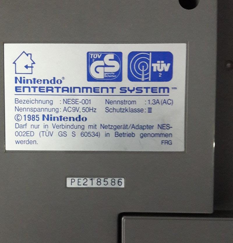 NES european version 410