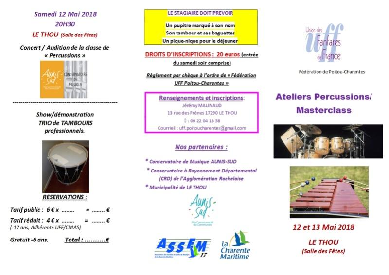 Ateliers Percussions et masterclass Tambour - 13/05/2018 - Le Thou (17) Plaque10