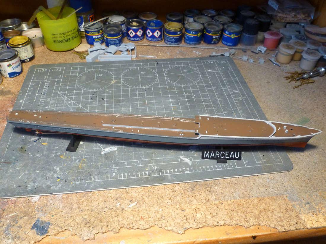 Montage du Contre-torpilleur Marceau 1/400  - Page 2 Marcea16
