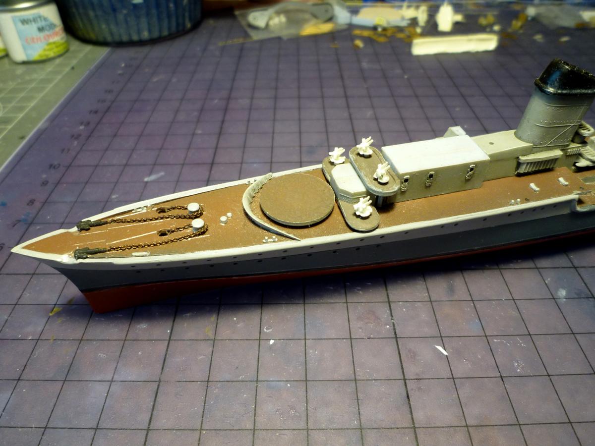 Montage du Contre-torpilleur Marceau 1/400  - Page 2 Marcea32