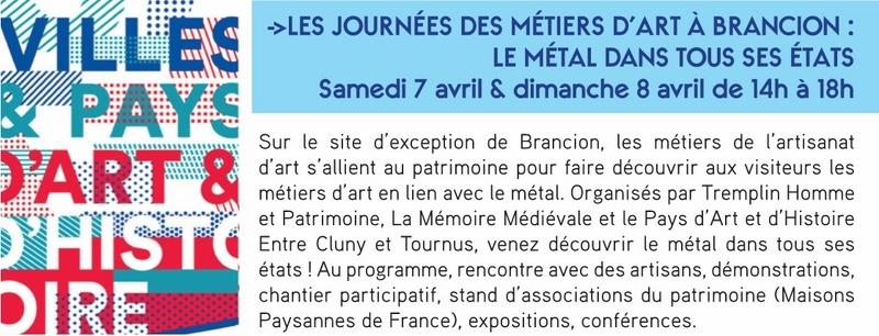 Inauguration Brancion & Les métiers d'art au village de Brancion 7 et 8 avril 2018 20_cop10