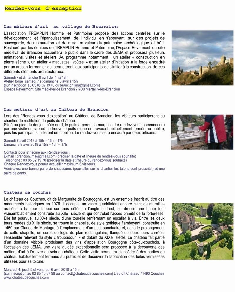 Inauguration Brancion & Les métiers d'art au village de Brancion 7 et 8 avril 2018 3_copi10
