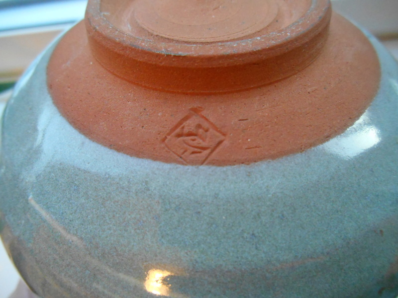 Triangle etc impressed mark -Green Glazed Earthenware Bowl - ID help please Dscn4614