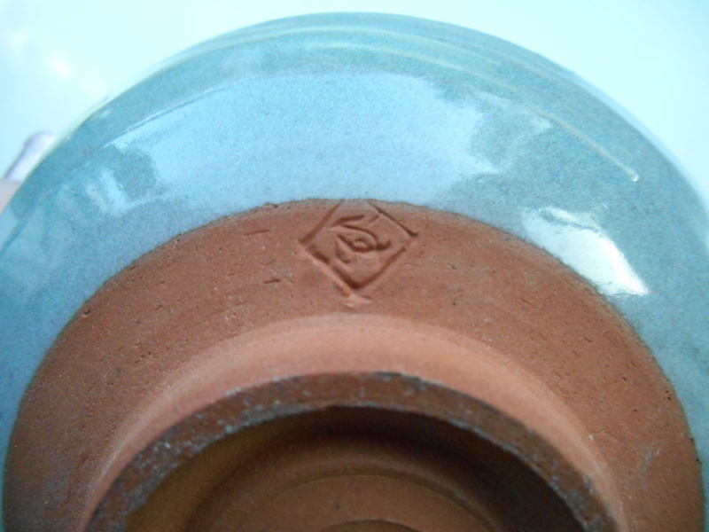 Triangle etc impressed mark -Green Glazed Earthenware Bowl - ID help please Dscn4616