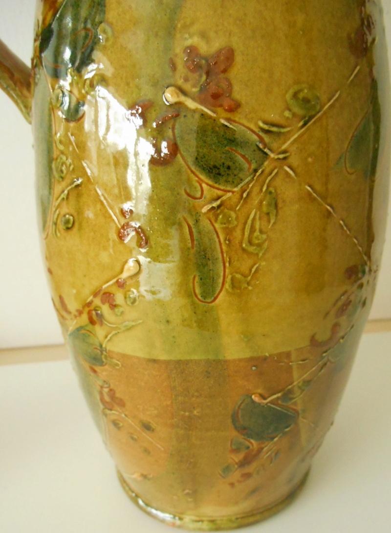 Slipware Jug- Hatched Design.No Marks. Anyone recognise the Potter please? Dscn6810