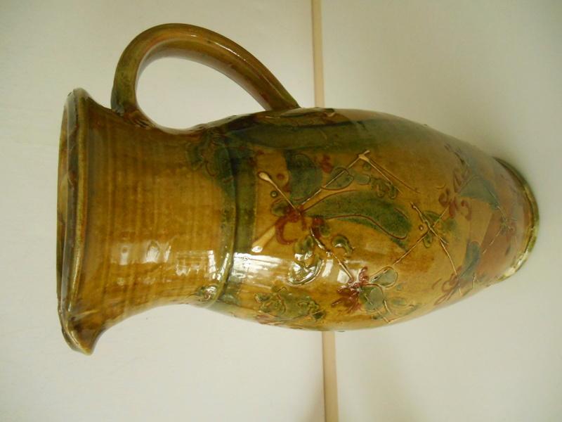 Slipware Jug- Hatched Design.No Marks. Anyone recognise the Potter please? Dscn6812