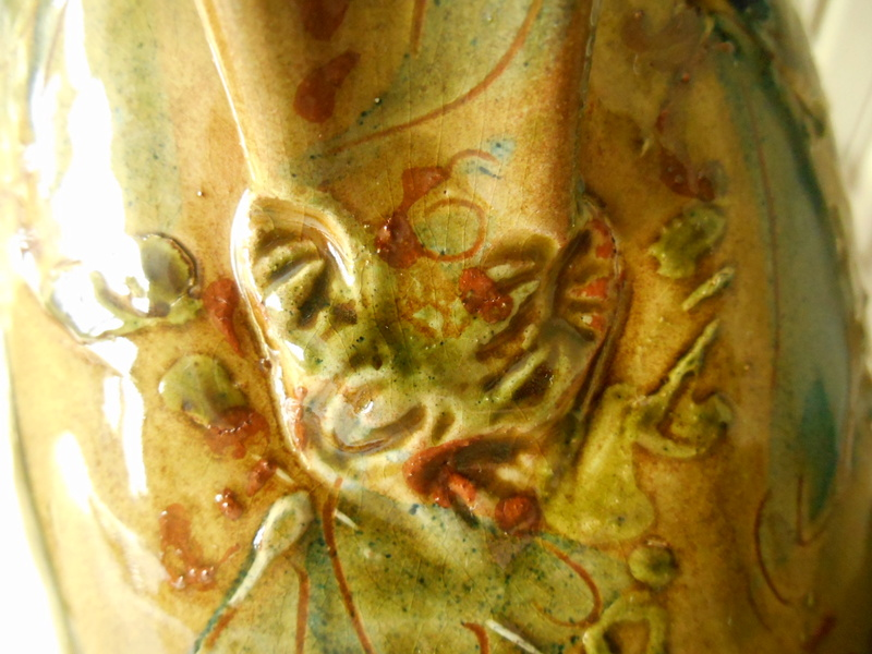 Slipware Jug- Hatched Design.No Marks. Anyone recognise the Potter please? Dscn6814