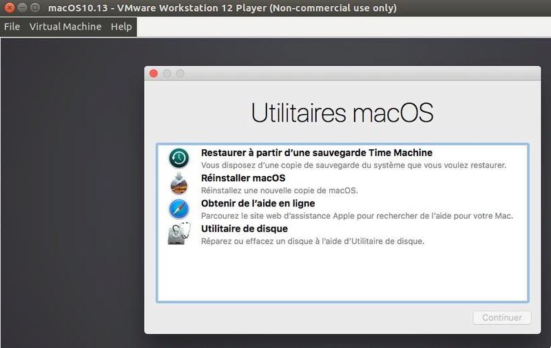 Script pour créer un iso macOS High Sierra 10.13  pour VMware Hights10