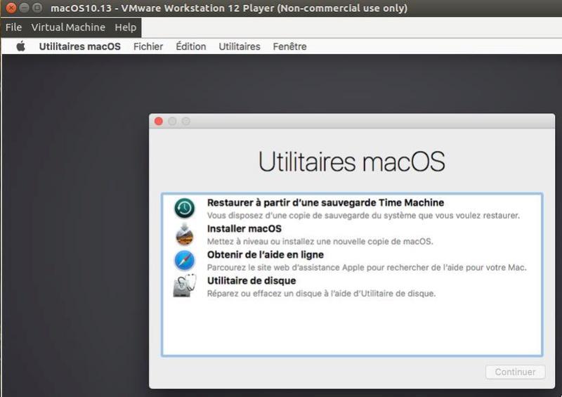 Script pour créer un iso macOS High Sierra 10.13  pour VMware Hsierr10