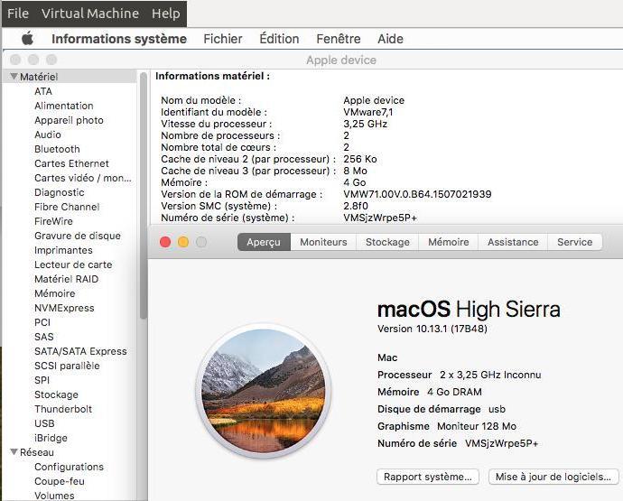 Script pour créer un iso macOS High Sierra 10.13  pour VMware Virtua10