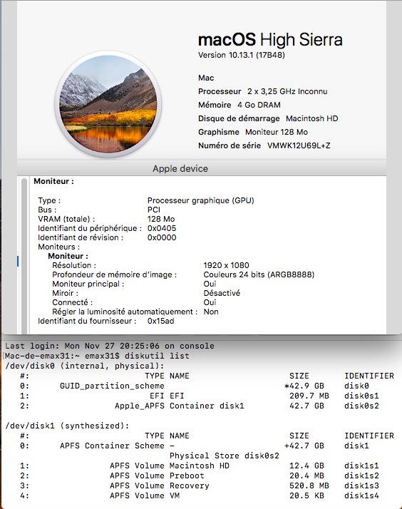 MacOS dans une VM avec Parallels Desktop Lite Vmware10