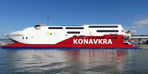 Lignes de ferries de la KONAVKRA Ferryp10