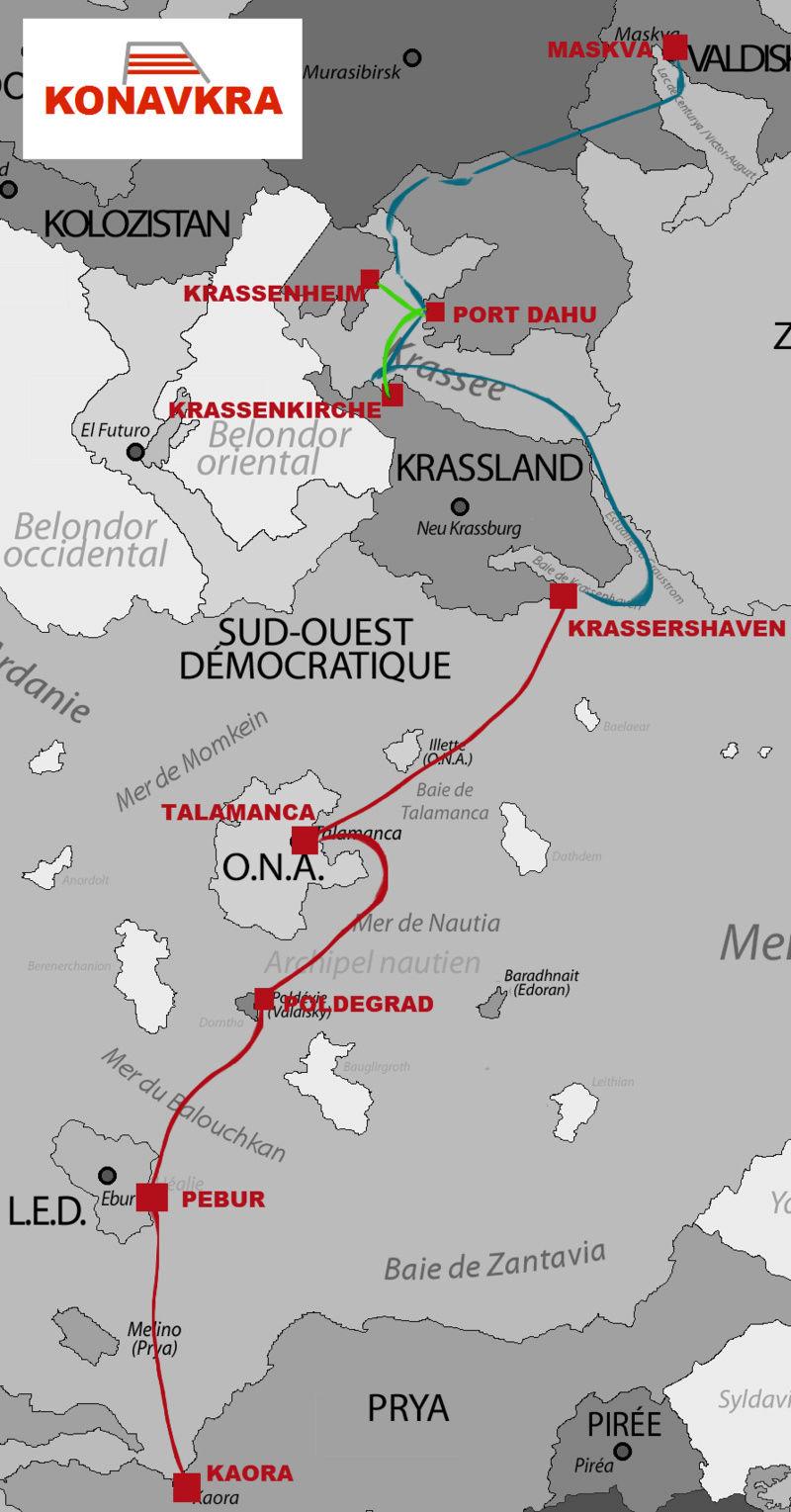 Lignes de ferries de la KONAVKRA Konavk10