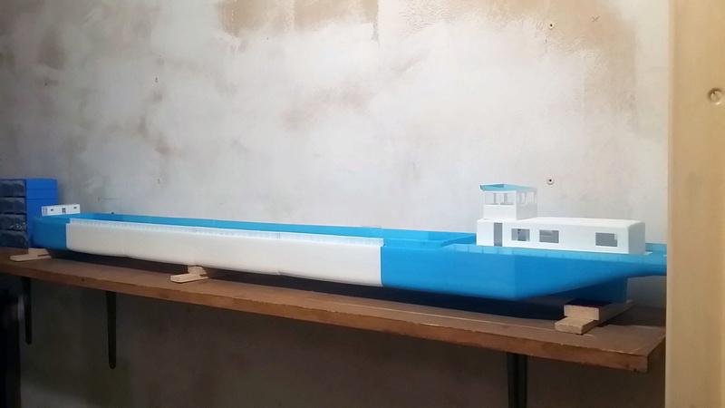 Cargo barge 100% 3D  - vendu 20171170