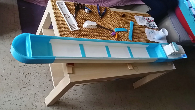 Cargo barge 100% 3D  - vendu 20171173