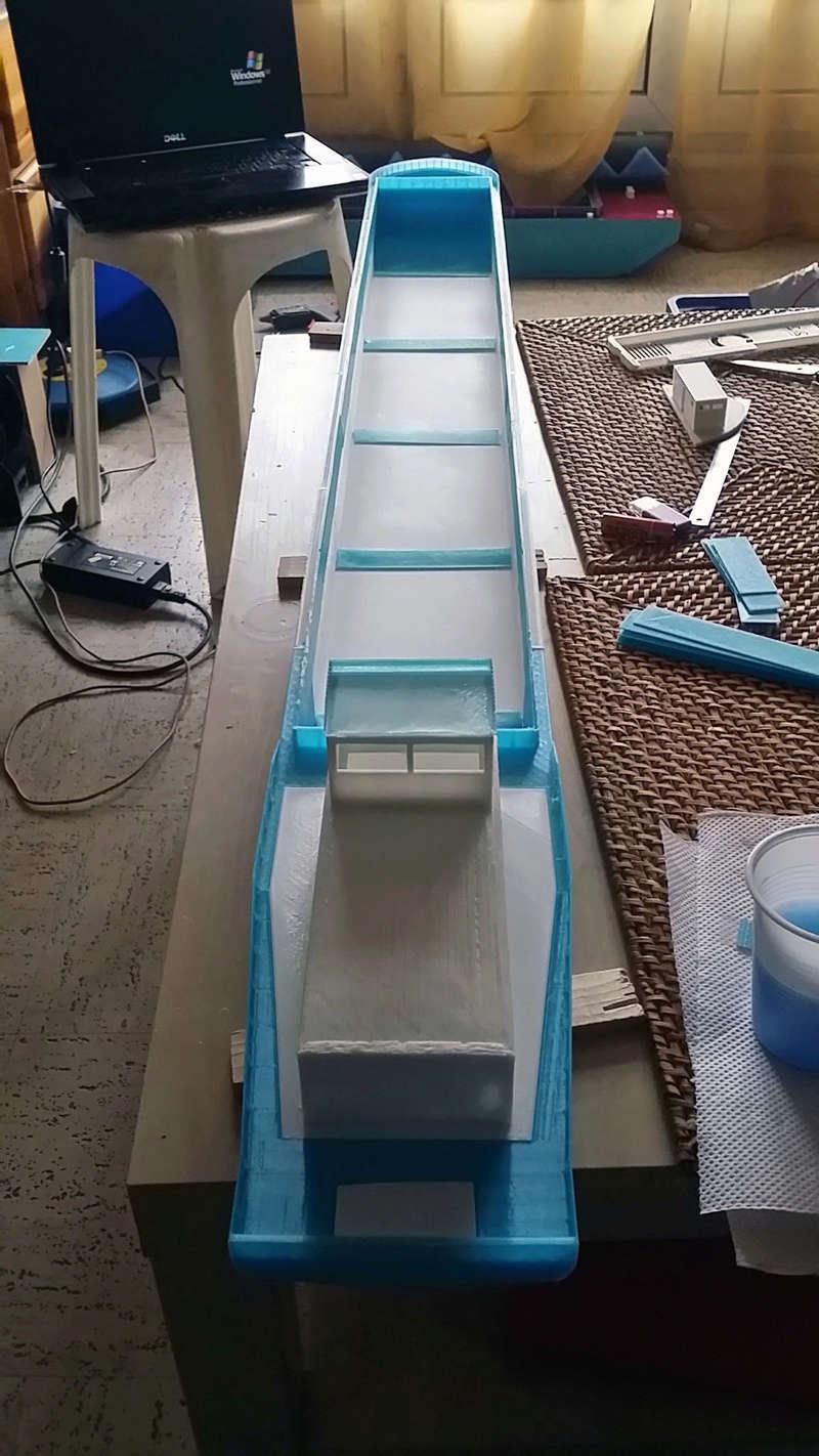 Cargo barge 100% 3D  - vendu 20171174