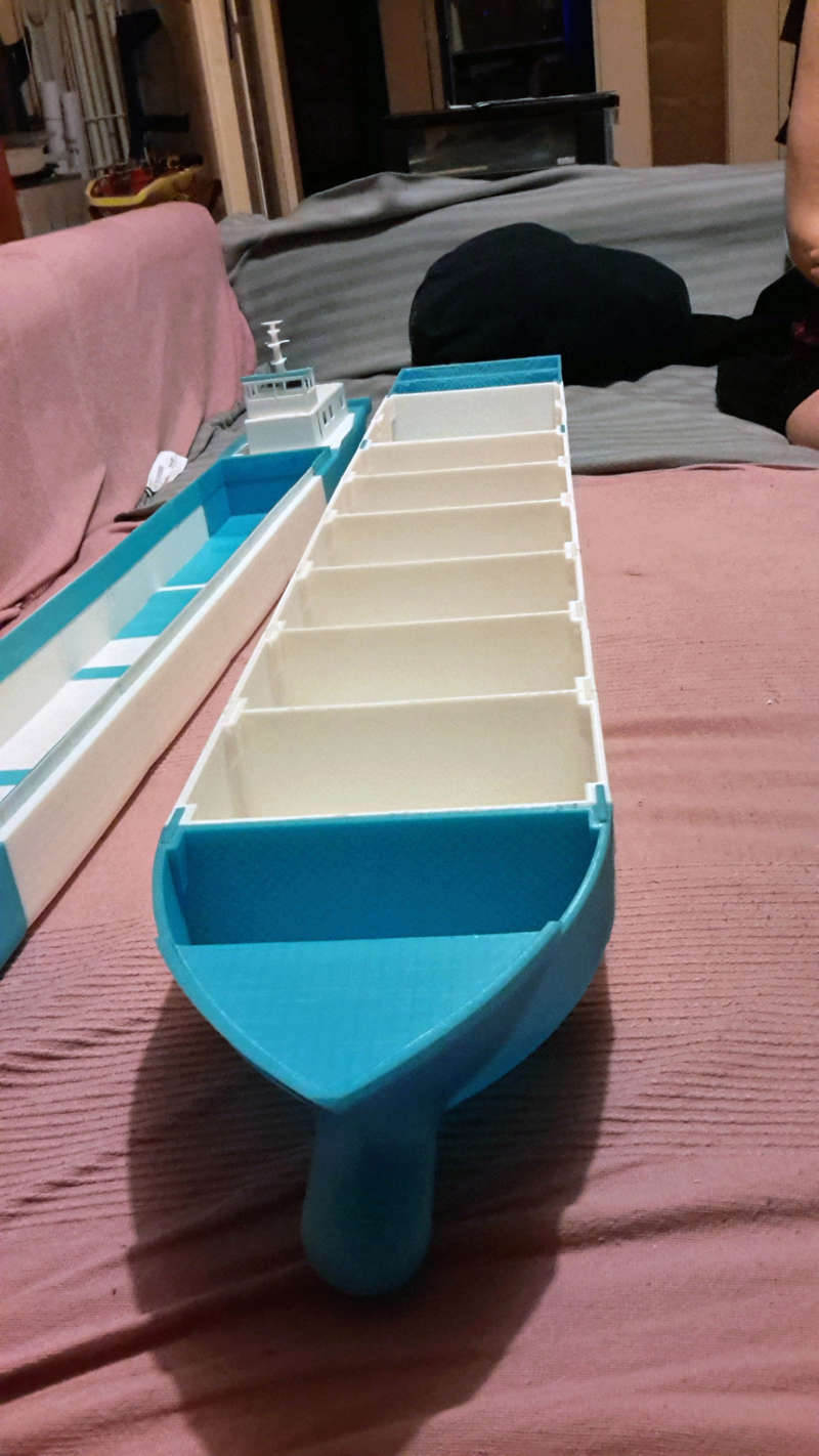 Cargo barge 100% 3D  - vendu 20171182